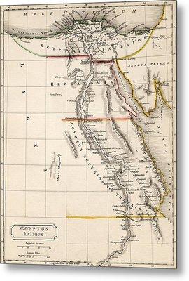 Map Of Aegyptus Antiqua Metal Print by Sydney Hall
