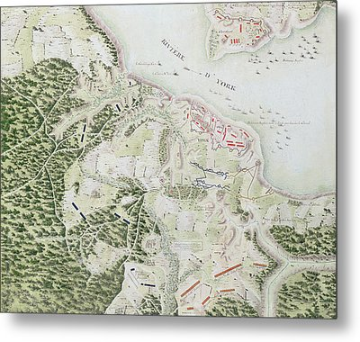 Map Of The Siege Of York Metal Print by F Dubourg