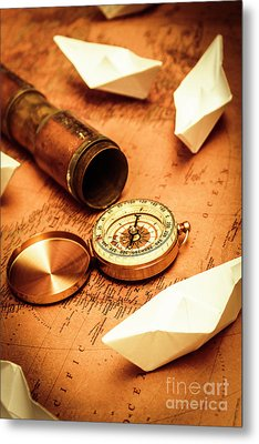 Maps And Bearings Metal Print by Jorgo Photography - Wall Art Gallery