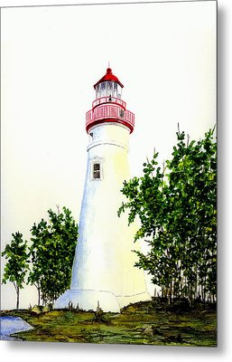 Marblehead Lighthouse Metal Print by Michael Vigliotti