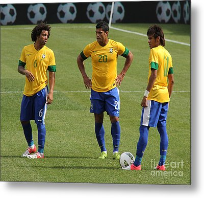 Marcelo Hulk And Neymar Metal Print by Lee Dos Santos