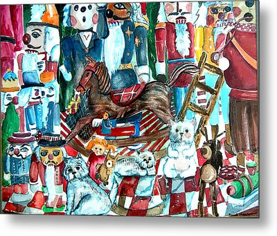 March Of The Wooden Soldiers Metal Print by Mindy Newman