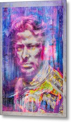 Marco Andretti Digitally Painted Portrait Metal Print by David Haskett