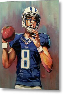 Marcus Mariota Rookie Year - Tennessee Titans Metal Print by Michael Pattison