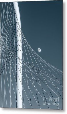 Margaret Hunt Hill With Moon Metal Print by Tod and Cynthia Grubbs