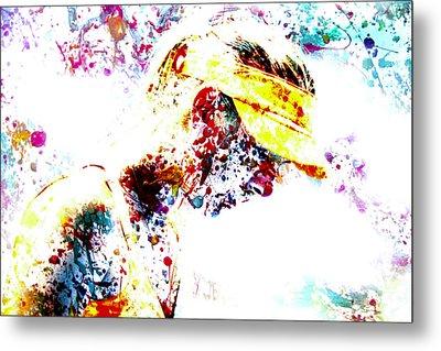 Maria Sharapova Paint Splatter 4p                 Metal Print by Brian Reaves