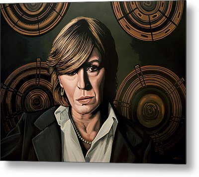 Marianne Faithfull Painting Metal Print by Paul Meijering