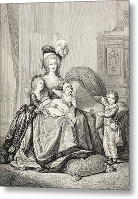 Marie-antoinette And Her Children. From Metal Print by Vintage Design Pics