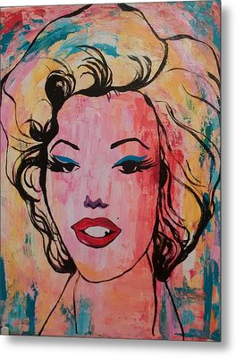 Marilyn Metal Print by Lynne McQueen