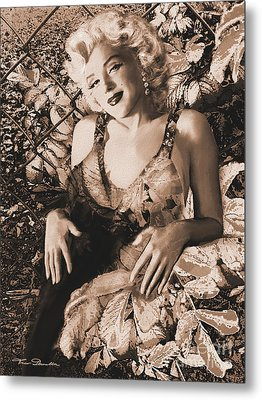 Marilyn Monroe 126 A 'sepia' Metal Print by Theo Danella