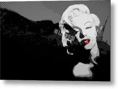 Marilyn Monroe Hollywood Star Metal Print by Brad Scott