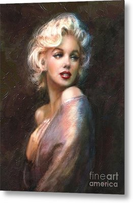 Marilyn Romantic Ww 1 Metal Print by Theo Danella