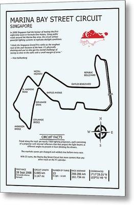 Marina Bay Circuit Metal Print by Mark Rogan