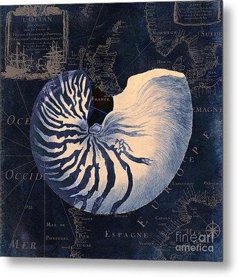 Maritime Blues  Metal Print by Mindy Sommers