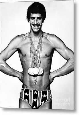 Mark Spitz (1950- ) Metal Print by Granger