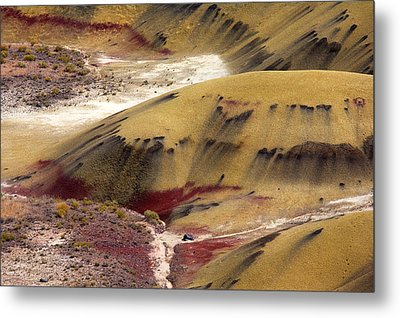 Marked Hills Metal Print by Mike  Dawson