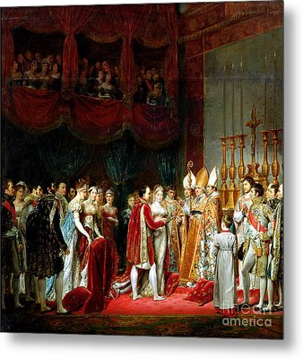 Marriage Of Napoleon I And Marie Louise Metal Print by MotionAge Designs