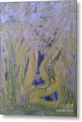 Marsh Moment Metal Print by Leslie Revels Andrews