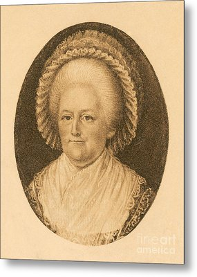 Martha Washington, American Patriot Metal Print by Photo Researchers