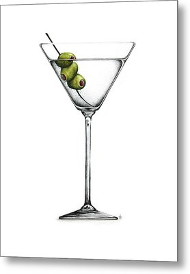 Martini Metal Print by Christina Meeusen