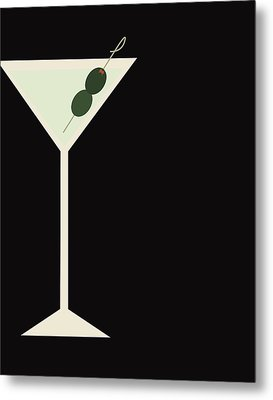Martini Metal Print by Julia Garcia