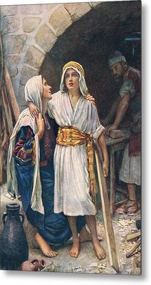 Mary And Jesus Metal Print by Harold Copping