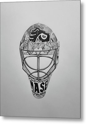 Mask Of Mason  Metal Print by John Chattley