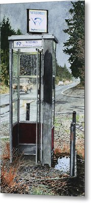 Mason-dixon Phone Booth Metal Print by Perry Woodfin