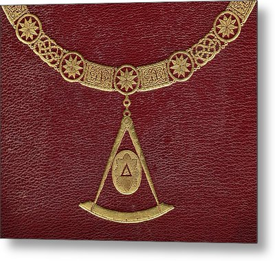 Masonic Symbols From Cover Of The Metal Print by Vintage Design Pics
