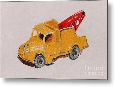 Matchbox Tow Truck Metal Print by Glenda Zuckerman