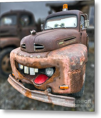 Mater From Cars 2 Ford Truck Metal Print by Dustin K Ryan