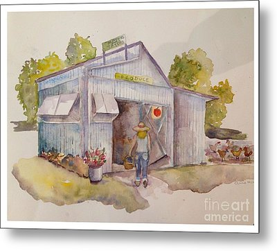 Maters And Taters Metal Print by Anne McMath