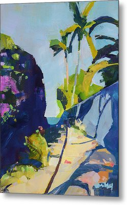 Maui Beach Path Metal Print by Stacy Vosberg
