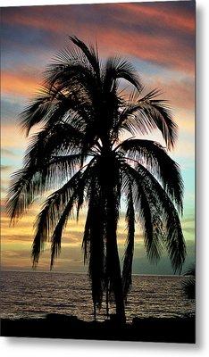 Maui Hawaii Sunset Palm Metal Print by Pierre Leclerc Photography