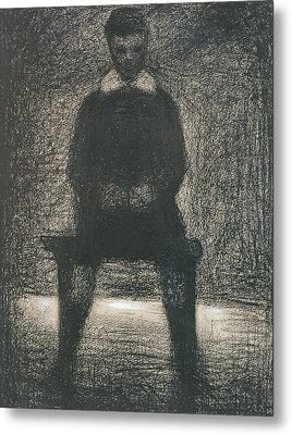 Maurice Appert Seated Metal Print by Georges Pierre Seurat
