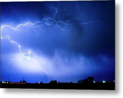 May Showers Two In Color - Lightning Thunderstorm 5-10-2011 Metal Print by James BO  Insogna