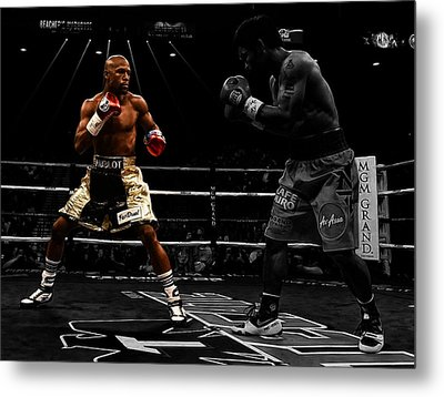 Mayweather And Pacquiao Metal Print by Brian Reaves