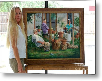 Me And Baron's Estate Metal Print by AnnaJo Vahle
