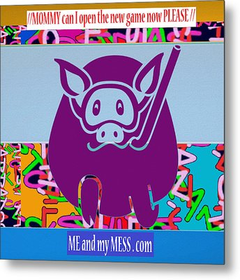 Me And My Mess Dot Com  Kids Room Decorations Metal Print by Navin Joshi