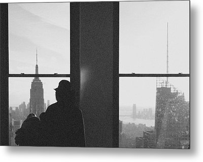 Me And Nyc Metal Print by J Montrice