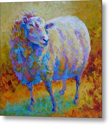 Me Me Me - Sheep Metal Print by Marion Rose