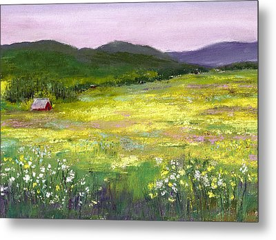 Meadow Of Flowers Metal Print by David Patterson