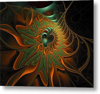 Meandering Metal Print by Amanda Moore