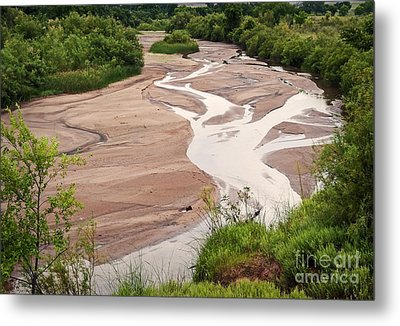 Meandering Sky Metal Print by Fred Lassmann