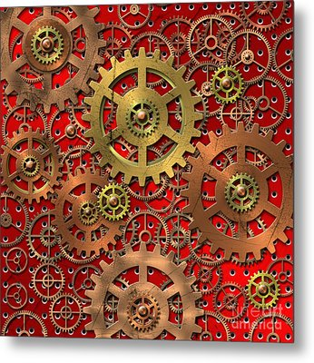 Mechanism Metal Print by Michal Boubin