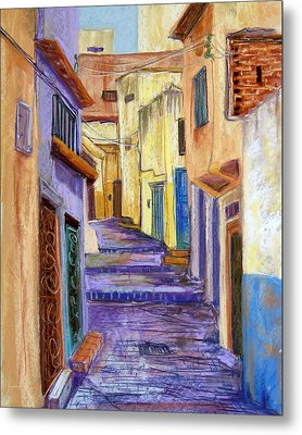 Medina In Tangier Metal Print by Candy Mayer