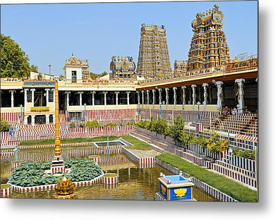 Meenakshi Sundareshwar Temple, Madurai Metal Print by Copyright@JGovindaraj