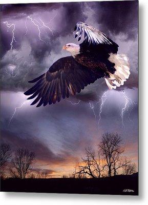 Meeting The Storm Metal Print by Bill Stephens