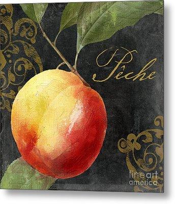Melange Peach Peche Metal Print by Mindy Sommers