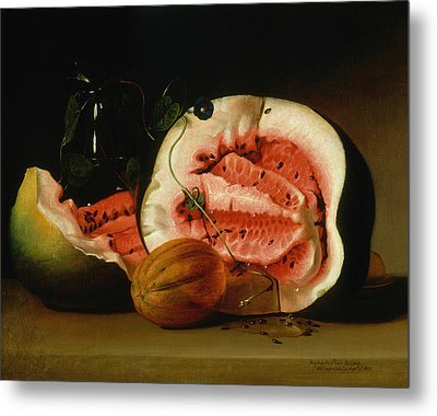 Melons And Morning Glories  Metal Print by Raphaelle Peale
